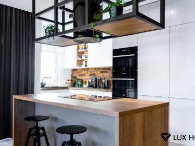 Jasnoszara kuchnia z blatem Halifax