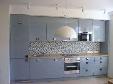 Kuchnia szaro-niebieska