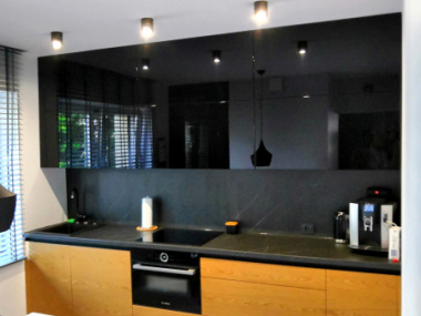 Kuchnia : drewno + czerń