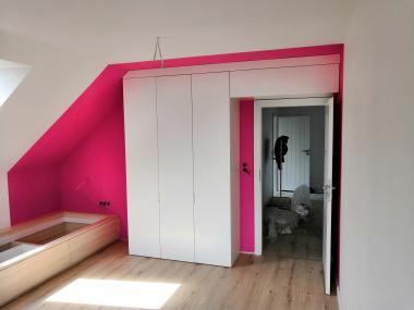 Pokój dziecka: szafa + łóżka z szufladami