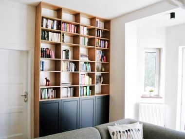 Regał na książki + fronty ramkowe